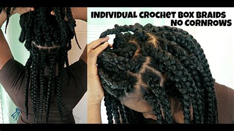 HOW TO INDIVIDUAL CROCHET BOX BRAIDS || NO CORNROWS || PROTECTIVE STYLE [BEGINNER FRIENDLY ...