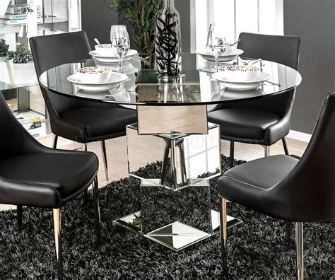 izzy  dining table cmrt  mirror chrome woptions