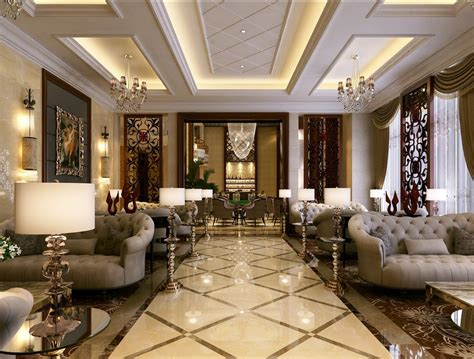 d home interiors simple european style sales office reception room interior