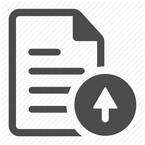 arrow document file paper sheet text up icon icon With documents upload icon