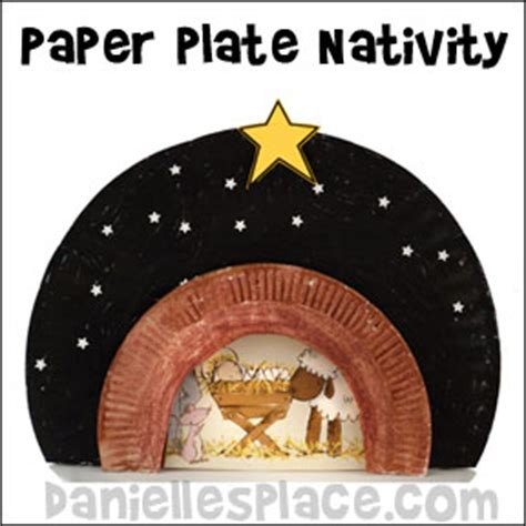 crafts children can make page 2 726 | paper plate nativity with stars craft