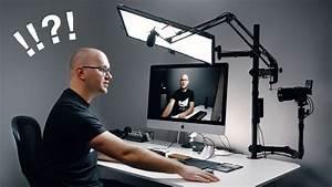 Entire Youtube Studio Setup On One Desk