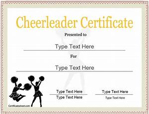 sports certificate cheerleader certificate certificatestreetcom sports certificates With cheerleading templates printable
