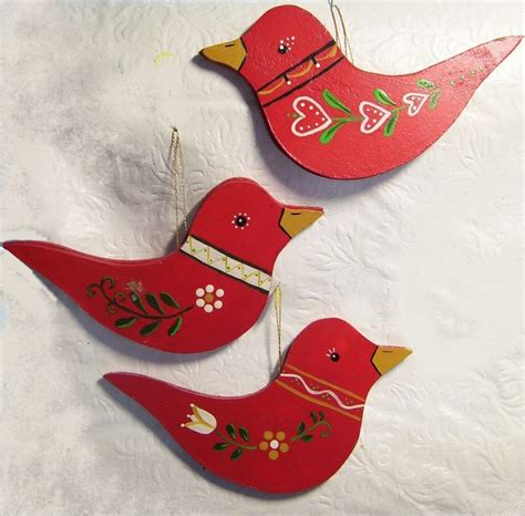 swedish bird ornaments swedish red is so cheery there