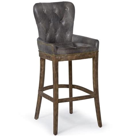 vintage leather bar stools liddy rustic lodge antique leather tavern bar stool 6838