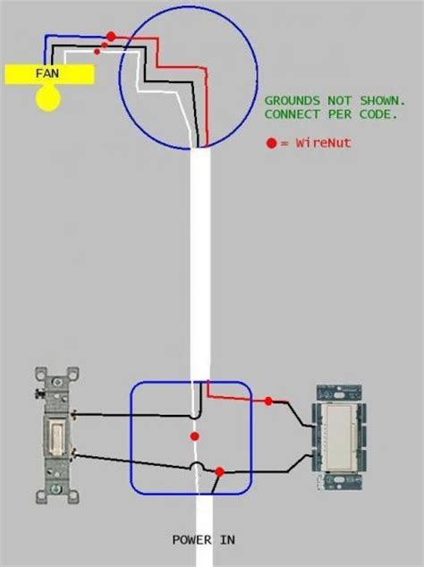 fan light dimmer switch how to wire a ceiling fan and light dimmer doityourself
