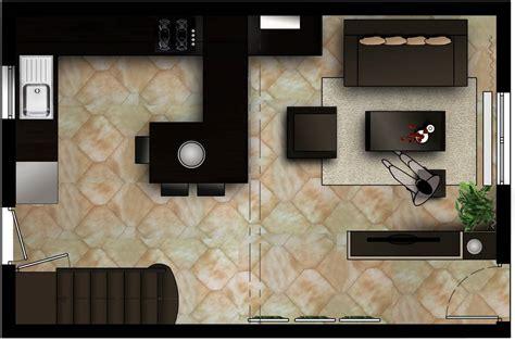 deco salon cuisine americaine décoration salon sejour cuisine ouverte