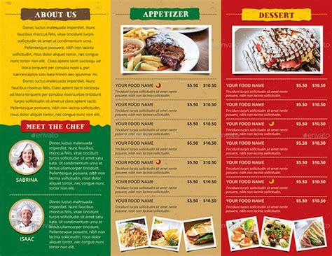 Restaurant Brochure Templates by 30 Restaurant Brochure Templates Free Psd Eps Ai