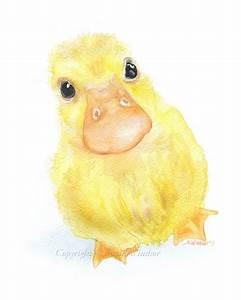 Duckling Original Watercolor Painting 8x10 Nursery Duck ...