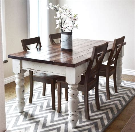 new project diy farmhouse table vintage chic redux