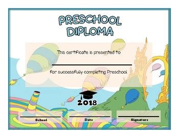 preschool and kindergarten graduation diploma dr seuss 630   original 3742816 1