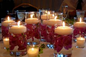 Floating Candles Wedding Table Decor And Design Candle
