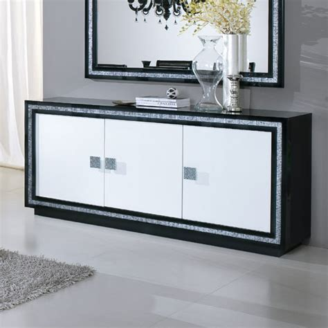 Black And White Sideboard by Gloria Sideboard In Black And White High Gloss With