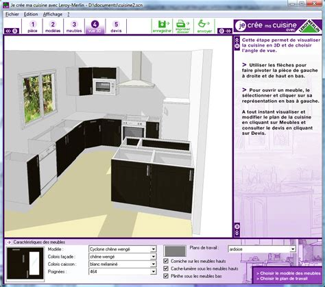 logiciel 3d pour cuisine logiciel conception cuisine 3d leroy merlin
