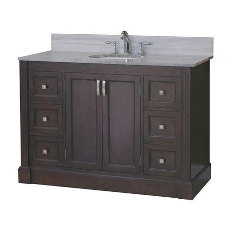 allen roth vanity cabinets allen roth 49 in espresso kingsway traditional bath