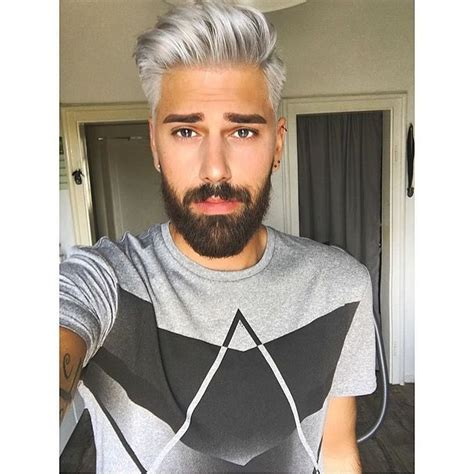 Pin By Blacks Lee On Men Grey Hair In 2019 Men Hair