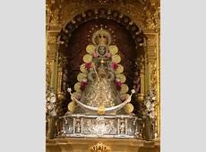 Ntra Sra la Virgen del Rocío con nueva saya Rociocom