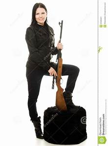 Cowgirl With A Gun Stock Image - Image: 25465321