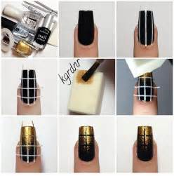 Black and gold nail polish designs elegant art