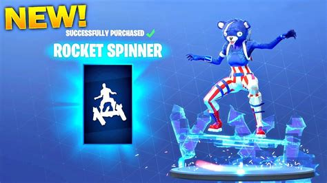 rocket spinner emote fortnite battle royale item