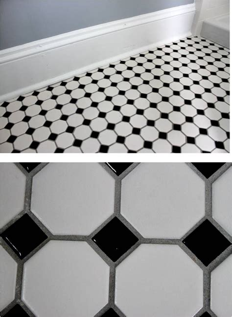 White And Black Tiles For Bathroom by Bathroom Reveal Turning A Half Bath Into A Charming