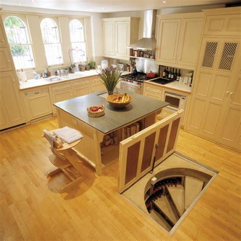 kitchen island secret passage trap door wine cellar designs 5151