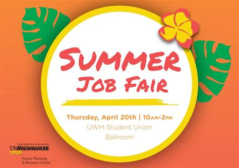 Summer Jobs And Internship Fair  Panther Families