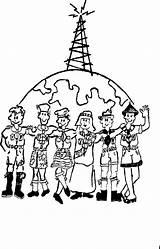 Jamboree Air Boy Sketch Scouts Ribosomes Radio Sketchite Ham Coloring Scouting Bol Afkomstig Van Library Clipart Template Amateur sketch template