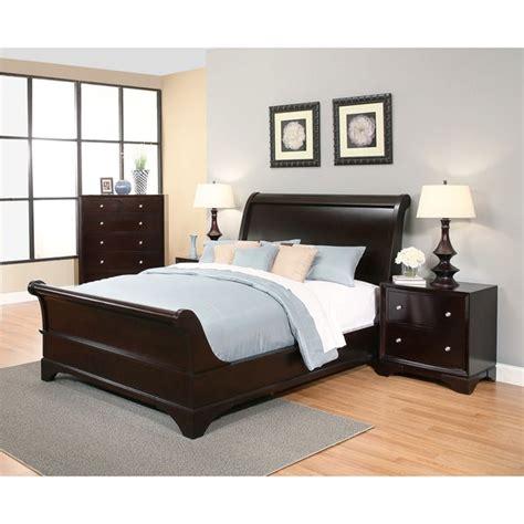 Espresso King Bedroom Set by Shop Abbyson Kingston 4 Espresso Sleigh King Size