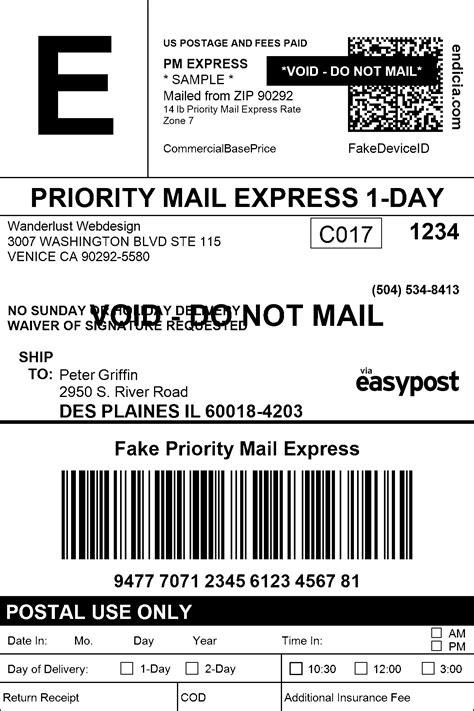 fake shipping label top label maker