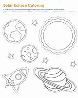 Coloring Printable Nebula Eclipse Educative Universe Themes Galaxy Andromeda Template sketch template