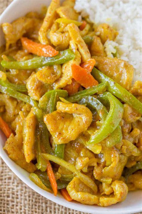 easy curry chicken dinner  dessert