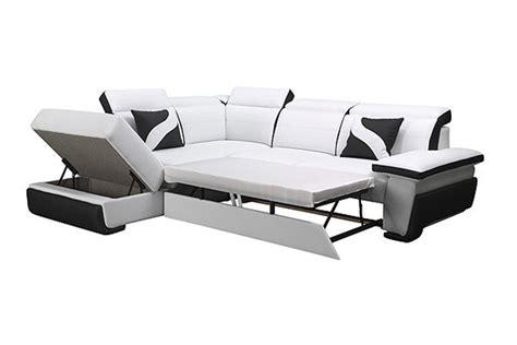 canape panoramique solde canapé d 39 angle en cuir pu zoé convertible canapés d
