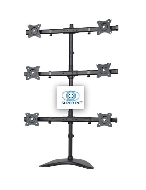 6 monitor desk mount super pc six display 2x3 multiple monitor desk stand