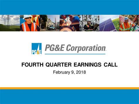 Pg&e Corporation 2017 Q4