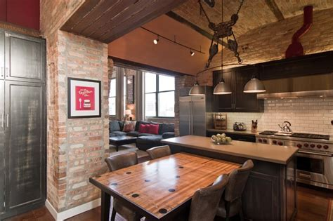 Loft Condo Renovation   Industrial   Kitchen   Chicago