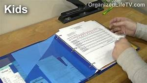 organize household paperwork with binders 2 youtube With household documents organizer