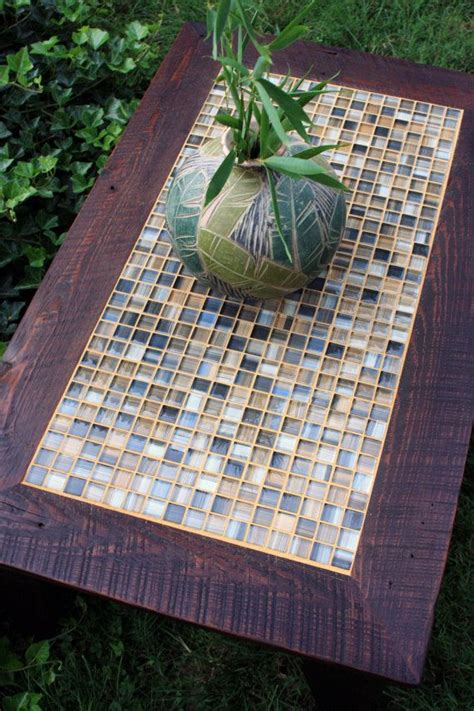 coffee table mosaic tile coffee table rustic coffee