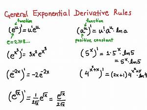 Exponential derivative rules | Math | ShowMe