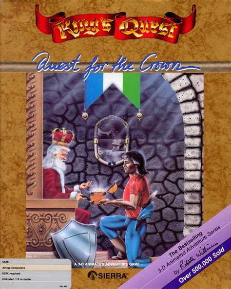 Kings Quest 1987 Amiga Box Cover Art Mobygames
