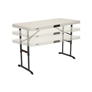 lifetime 4 ft table 4 foot commercial adjustable folding table almond