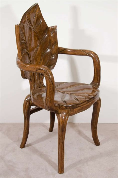 century euro art nouveau carved wood chair yahoo