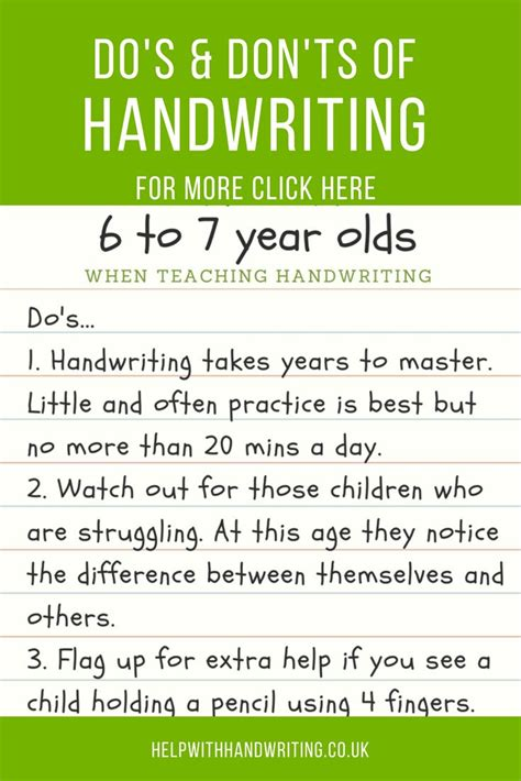 handwriting tips     year olds