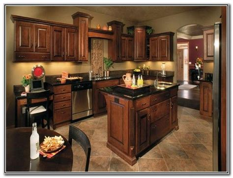 paint colors for kitchens with dark brown cabinets