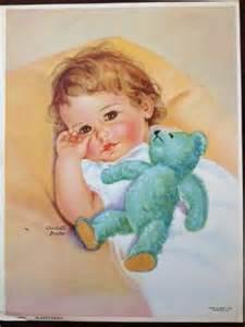 Vintage Print of Babies by Charlotte Becker