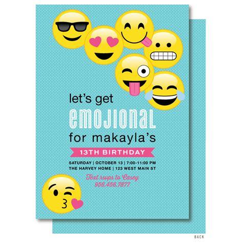 emoji invitation emoji birthday invitaiton