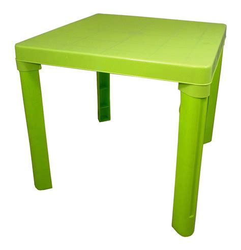 plastic table and chair set