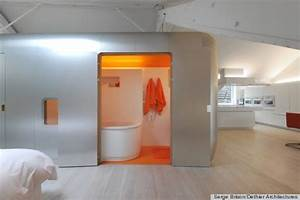 Bathroom pods inspired byairstream trailers photos for Pod style bathroom