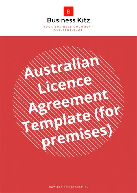 australian licence agreement template  premises