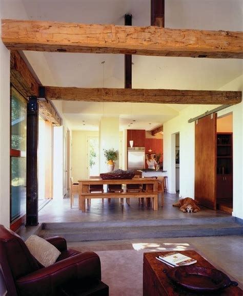 primitive dining room living rooms with beams that will inspire
